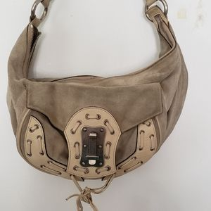 Versace Suede Hobo Bag